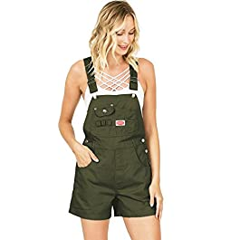 Revolt Women's Juniors Classic Twill Short Overalls