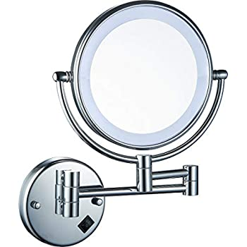 Amazon Com Lighted Led Light Makeup Bathroom Mirror Round