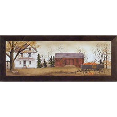 Pumpkins For Sale by Billy Jacobs 16x40 Farm Barn Wagon Fall Autumn Seasons Primitive Folk Art Print Framed Picture