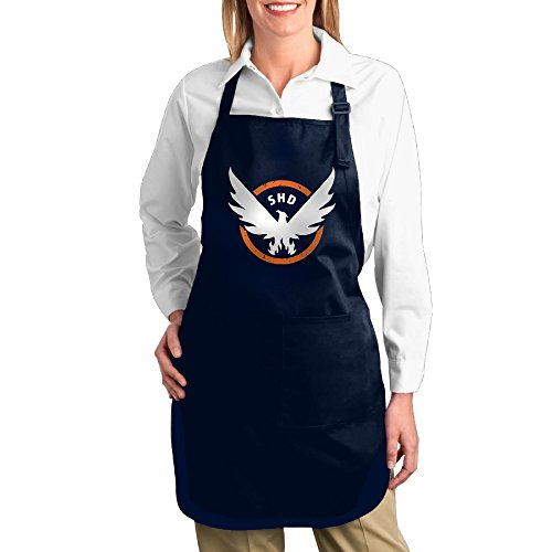 Price comparison product image Tom Clancys The Division SHD Canvas Adjustable Bib Apron With 2 Pockets Navy