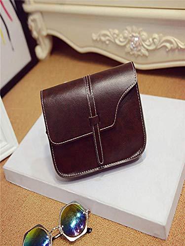 Versatile Da Quotidiana Tracolla Ecopelle Messenger Moda Borsa Nuova Donna Ansenesna In Bag Marrone 40WwXqY5v