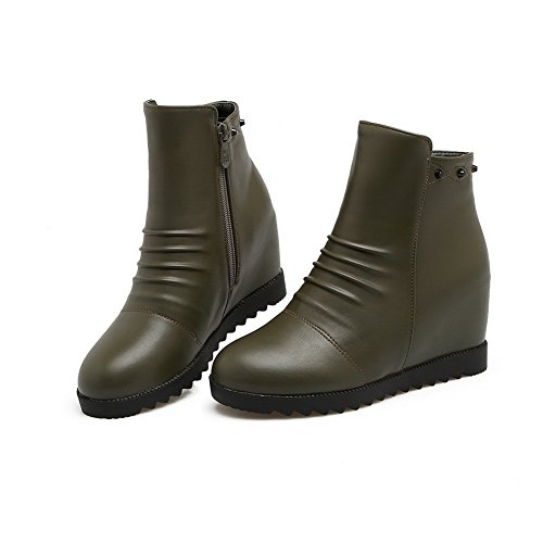 BalaMasa Dress Wedges ABL10365 Boots Womens Urethane Claret Platform Grommets TF7cHCZwTP