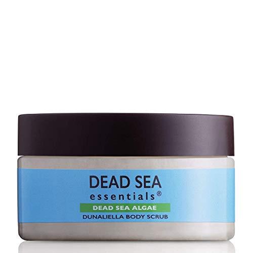 Dead Sea Essentials Exfoliating Body Scrub with Natural Dead Sea Algae & Minerals for Dry Skin Cleansing