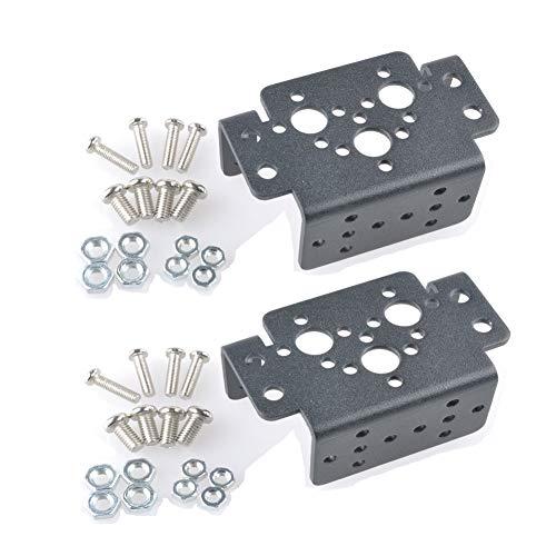 (2 pcs Aluminum Multifunction Servo Bracket Steering Head Robot Manipulator Multi-Functional Bracket 995 996r Standard servos Universal)