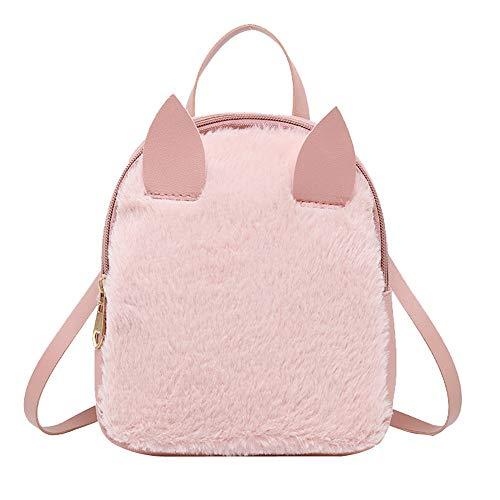 Phone Purse Bag Type Shell Shoulder Hair Mobile Pink Rabbit Horn Byste Messenger 1qZw06Ux