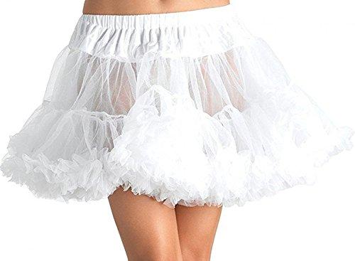 Honeyveil Women's A Line Puffy Mini Petticoat Double Layers Mesh Short Crinoline ()