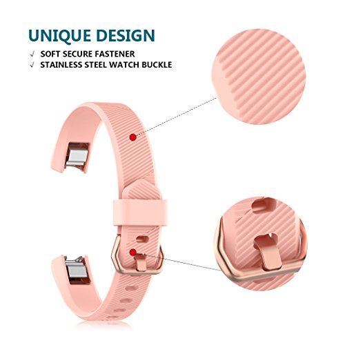 Ysang for Fitbit Alta HR Replacement Wristband, Classic Soft Silicone Metal Clasp Watch Buckle Wrist Strap Smartwatch Sport Band for Fitbit Alta HR Fitness Activity Tracker Small or Large Size