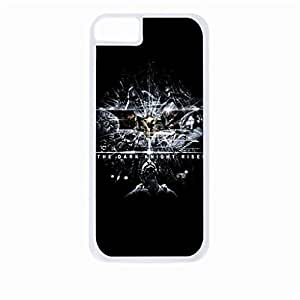 The Dark Knight Rises Hard White Plastic Snap - On Case with Soft Black Rubber Lining-Apple Iphone 5 - 5s - Great Quality!