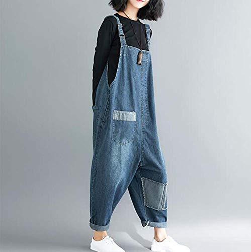 Di Jeans Blu Delle Worclub Tuta Pantaloni Del Autunno Appendono Arte Grandi Marea File Allentati Traspirante I Donne Della Che UXXwtq