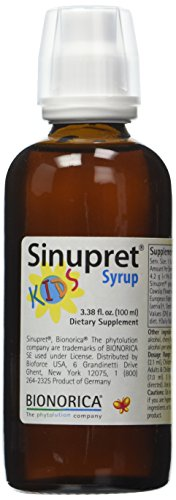 Sinupret Kids Syrup, Sinus Respiratory & Immune Support, 3.38-Ounce
