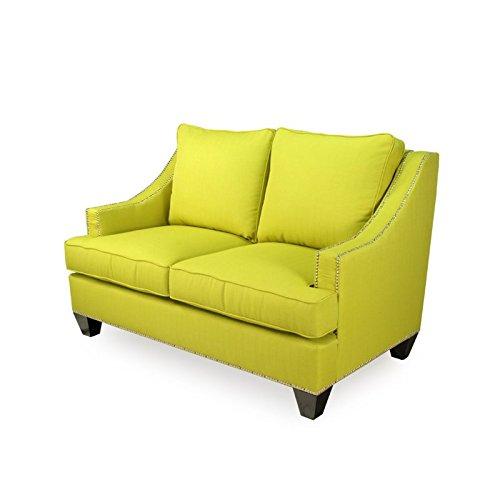 Furniture of America Beverly Fabric Upholstered Loveseat in Lemongrass