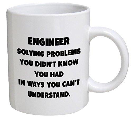 Funny Mug - Engineer. Solving problems - 11 OZ Coffee Mugs - Funny Inspirational and sarcasm - By A Mug To Keep TM