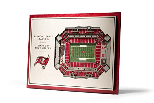 YouTheFan NFL Tampa Bay Buccaneers 5-Layer StadiumView 3D Wall Art ()