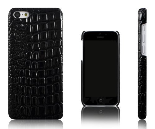 Xcessor Crocodile Skin Effect Case for Apple iPhone 5C. Black