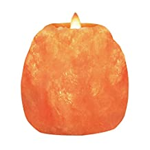 Himalayan Glow 3002 Hand Carved Natural Crystal Himalayan Salt 1 Hole Tealight Candle Holder, (1.2 KG) 3 to 4 Inch, 100% Pure Pink Unique Home Decor Item great as a Night light or Decorative Light