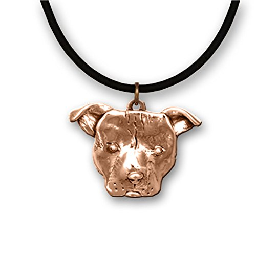 Patina Pits (Bronze Large Pit Bull Necklace with 18)