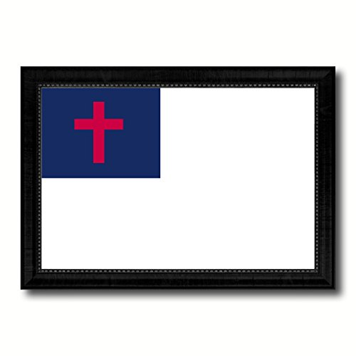 Kayso Christian Religious Military Flag Canvas Print with Black Picture Frame Gift Ideas Home Decor Wall Art Decoration by SpotColorArt