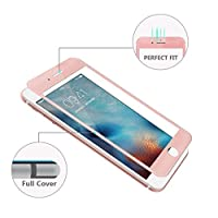 (Pack of 2)iPhone 7 Plus Screen Protector, Akwox 3D Curved ABS Soft Edge + Middle Tempered Glass Screen Protector, Full Screen Coverage Edge to Edge Protector Film for iPhone 7 Plus (Rose Gold) from Akwox