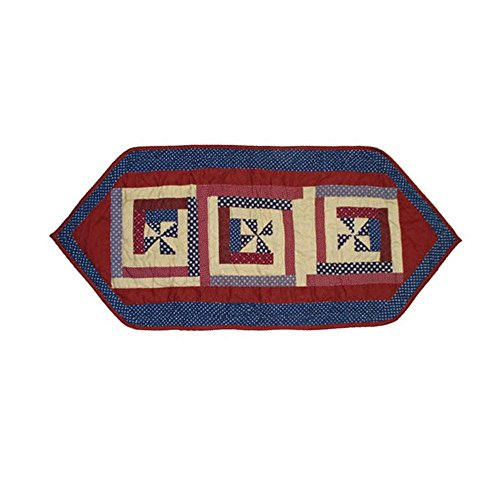 Patch Magic Midnight Log Cabin Table Runner, Extra Small 36-Inch by 16-Inch