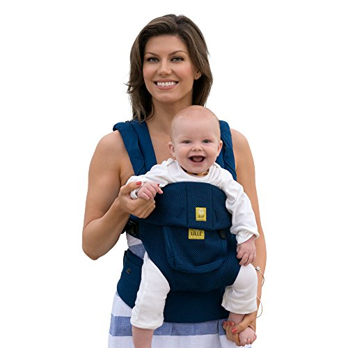 LÍLLÉbaby The COMPLETE Airflow SIX-Position 360° Ergonomic Baby & Child Carrier, Navy - Cotton Baby Carrier, Ergonomic Multi-Position Carrying for Infants Babies Toddlers