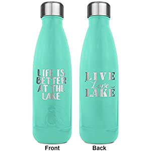 Lake House RTIC Bottle - Teal - Engraved Front & Back (Personalized)
