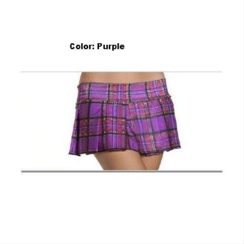 Pleated Schoolgirl Mini Skirt Clothing - Medium/Large - Dress Size -