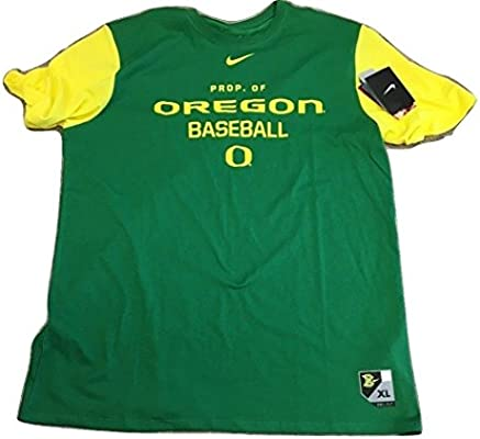 Nike Oregon Patos béisbol Dri-fit algodón College Camiseta (Grande ...