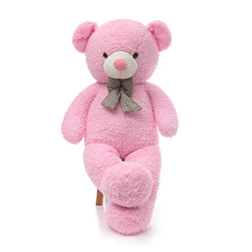 DOLDOA Big Teddy Bear Stuffed Animals Plush Toy for Girlfriend Children (47 inch, Pink) from DOLDOA
