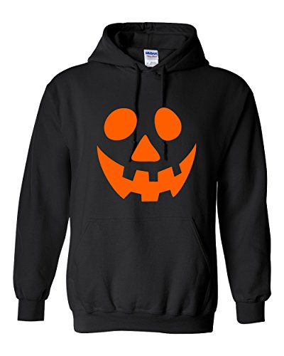 Smile Pumpkin Emoticon Smile Face Graphic Costume Funny Halloween 2XL Black (Offensive Funny Halloween Costume Ideas)