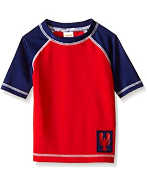 Boys' Baby Red Raglan Rashguard