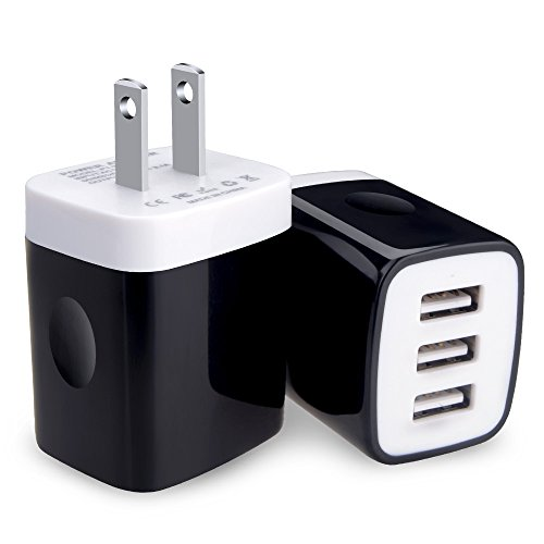 Kakaly USB Wall Charger Block, 2-Pack 3.1Amp Charger Power Adapter Box Charging Plug USB Base Cube Compatible with Samsung, LG, Moto, ZTE, HTC, Android Phone,Power Bank and More