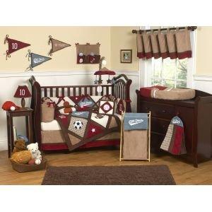 Sweet Jojo Designs All Star Bed Skirt for Toddler Bedding Sets