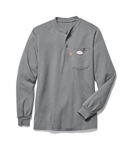 Rasco FR Men's Gray Henley T-Shirt