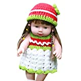 Gbell 22 Inch Realistic Reborn Doll Girl with Beautiful Long Hair & Dress Clothes,Adorable Silicone Pretend Play Soft Doll Gifts Toy for Toddlers Girls Boy Kids 2+ (Green)