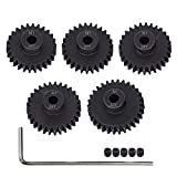 AMOGOT Metal Steel M1 Pinion Gear Sets 26T 27T 28T 29T 30T 5mm Shaft Motor Gears with Hex Key for 1/10 RC Brushless Brush Motor