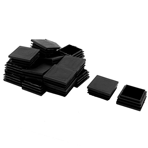 UXcell Plastic Furniture Legs Flat Base Square Tubing Ins...