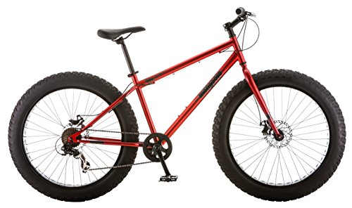 Mongoose Hitch Men's Fat Tire Bicycle, Red, 26