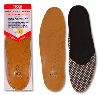 Tacco Deluxe Insole - Size Womens (Cushioned Leather Insole)
