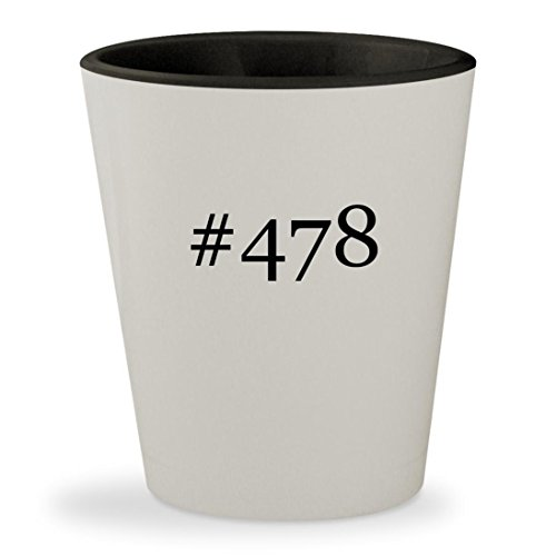 #478 - Hashtag White Outer & Black Inner Ceramic 1.5oz Shot Glass (Pentium Motherboard Audio)