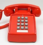 Industrial Desk Phone with Dialpad/Keypad - RED by HQTelecom
