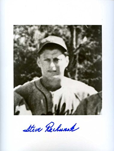 (Steve Rachunok (D.) Autographed /Original Signed Rare 8x10 Photo From Old Negative Showing Him w/ the 1940 Brooklyn Dodgers)