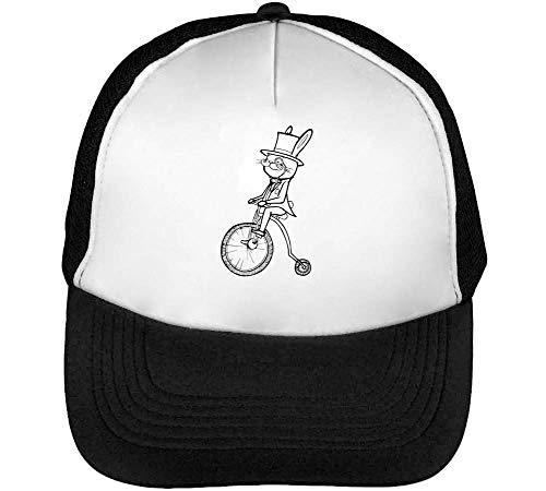 Blanco Hombre Rabbit Bike Gorras Negro Snapback Beisbol On wttr0