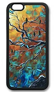 Abstract Bird Art Painting DIY Rubber Black iphone 6 plus Case On Custom Service
