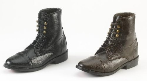 Equistar - Ladies' Lace Paddock Boot (All Weather) 8 Black