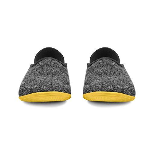 mahabis Skane 2 Classic Grey Yellow Soles Slippers Larvik Dark qq1Zr