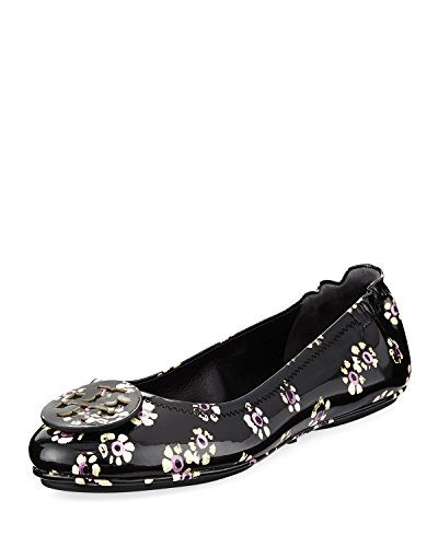 (Tory Burch Women's Minnie Patent Leather Travel Ballet Flats (6 M US))