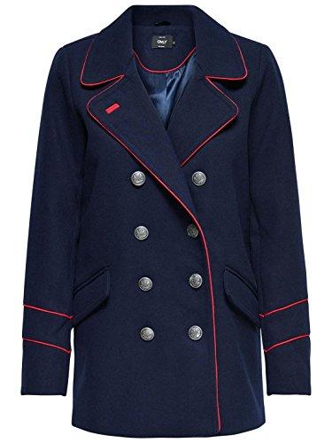 Only damen mantel blau