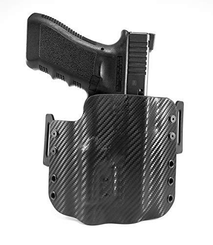 (Tru-Fit Tactical OWB Kydex Gun Holster (Carbon Black) for Streamlight TLR-7 Available for 30+ Gun Models)