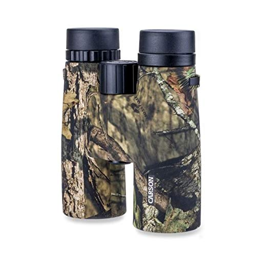 - Carson JR Series 10x42mm Mossy Oak Camouflage Waterproof Binoculars for Hunting, Bird Watching, Sight Seeing, Safari, Surveillance, Sporting Events, Concerts and Other Outdoor Adventures (JR-042MO)