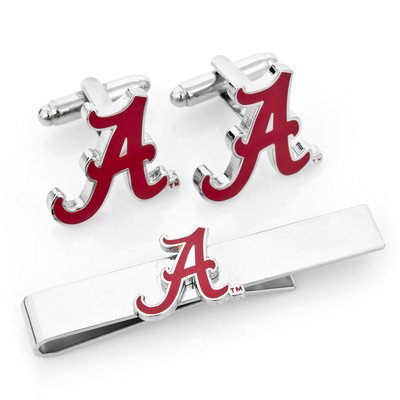 NCAA Mens Alabama Crimson Tide Cufflinks And Tie Bar Gift Set by Cufflinks